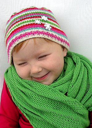 Gotta love a kid who loves handknits.