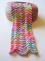 Chevron Scarf from hand-dyed sock yarn