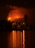 Boston's fireworks seen from Quincy, MA