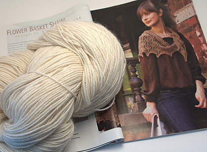 The pattern is from Interweave Knits Fall 2004 and the yarn is Prime Alpaca.