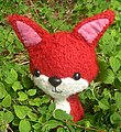 Cute fox!  Knit with single strand Nashua Chunky.