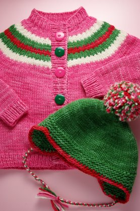 Jojo's hat and sweater set.