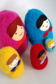 Felted Matrioshkas.