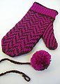 Leave a small loop at one end of your crochet chain.