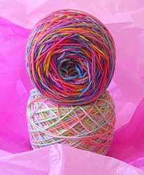 Congratulations Jessi! You won these two 50 gram balls of sock yarn hand dyed by Alice!
