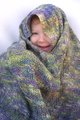 The shawl is definitely big enough for Camdyn to wrap herself up in.