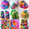 Just a few examples of the beautiful yarn and roving you can create with this kit!