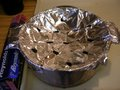 Steamer made from aluminum foil.