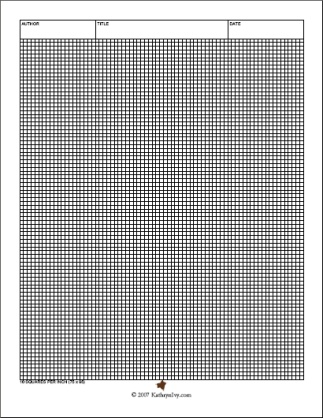 GRAPH PAPER FOR KNITTING Free Knitting Projects