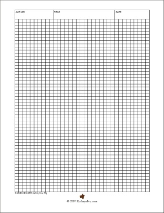 Knitting Pattern Design Templates : firmtacami: graph paper template a4