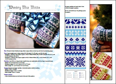 PDF Preview of our Wintry Mix Mitts pattern