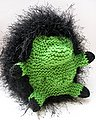 This black and green guy is all ready for felting.